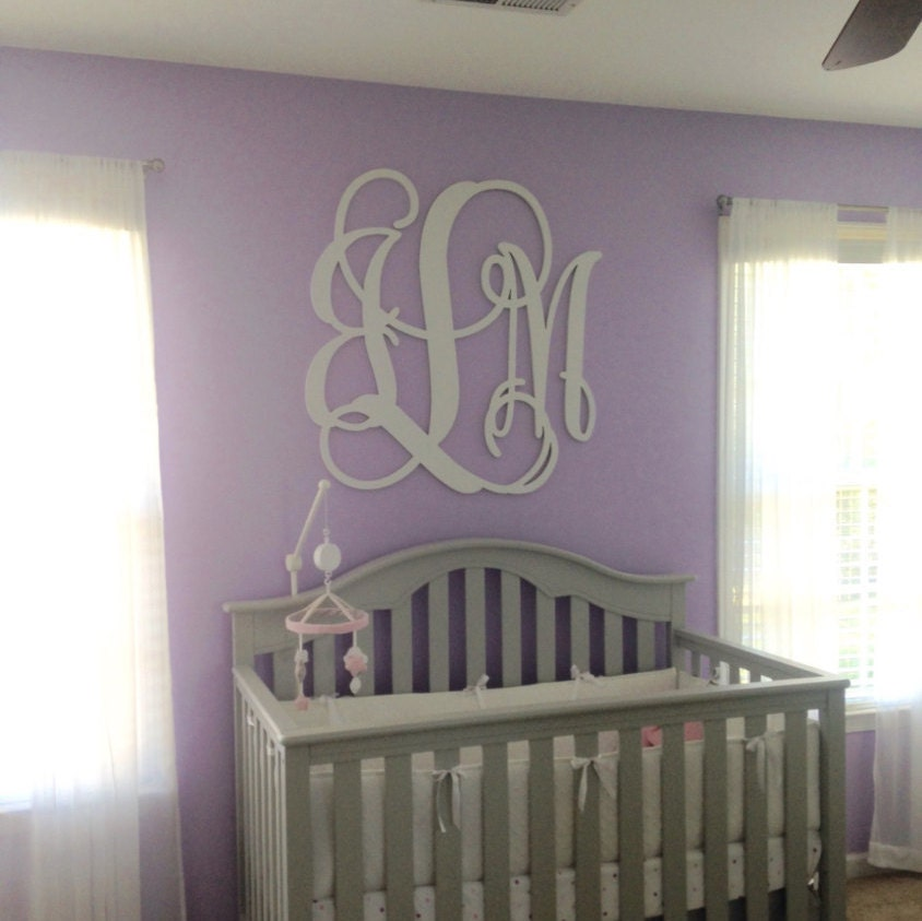 36 inch wooden monogram painted white wooden letters for Monogram homes
