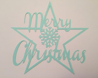 DIY Paper Cutting Template - Merry Christmas - A4 PDF Download with Instructions. Cut it Yourself!