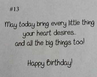 Birthday message #13