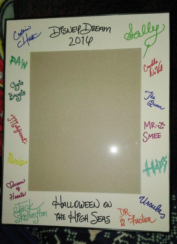 custom disney autograph frame mat 11x14 frame 8x10 opening