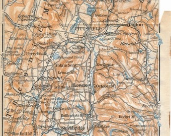 1904 The Berkshires, Berkshire Hills Antique Map