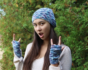 Hat and Mitten Set - Various Colors