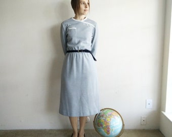 Vintage 1970s Leslie Fay Knit Dress