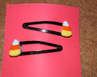 Candy Corn Hair Clips/Barrettes