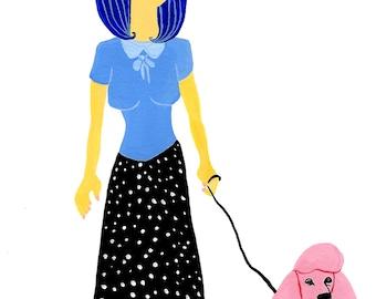 Poodle Lady Shirt