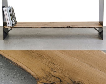 Iron and oak console