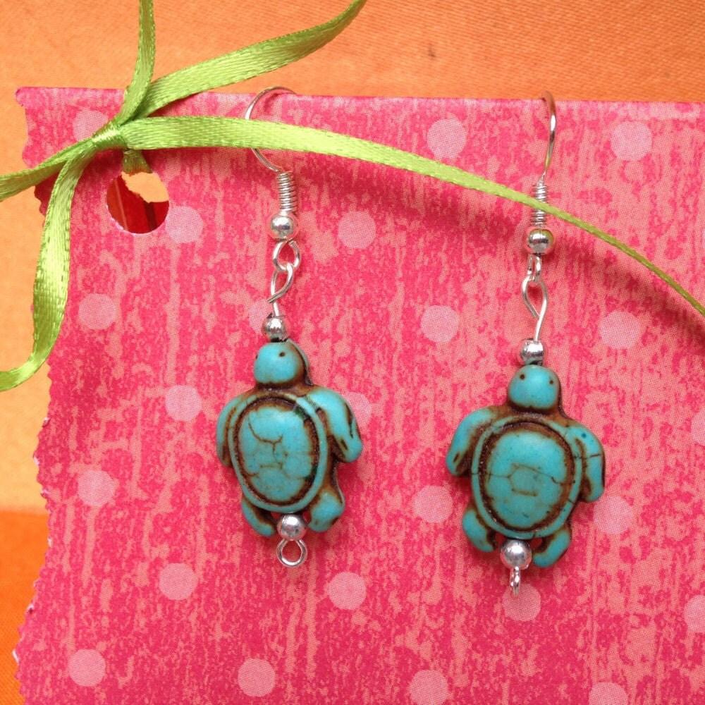 turtle earrings turtle jewelry kids clip on by storybookearrings. Black Bedroom Furniture Sets. Home Design Ideas