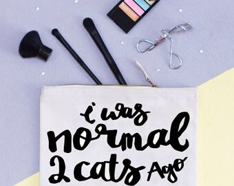 Funny Cat Makeup Bag - Gift for Women - Gift for best friend - Cat Gifts - Gifts for Cat lovers - Crazy Cat Lady - I love Cats
