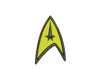 Star Trek Logo Machine Embroidery Design 5 Size - INSTANT DOWNLOAD