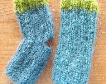 Yoga socks, toeless yoga socks, knit yoga socks, yoga clothing, pilates socks, dance socks, pedicure socks, grip socks, flip flop socks