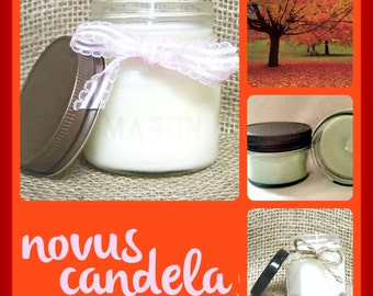 Mason Jar Candle - Soy Candle - Soy Scented Candle - Autumn Candle - Fall Candle - Autumn Leaves Candle - Housewarming Gift - 2 4 8 oz