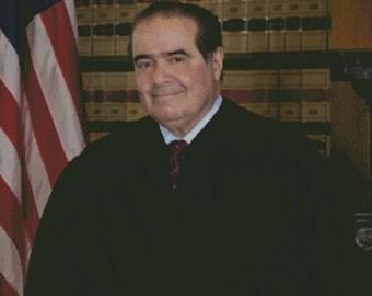 Associate Justice of the Supreme Court Antonin Scalia Cross Stitch
