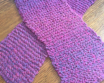 Knitted Mixed Berries Homespun Yarn Scarf