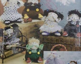 2004 UNCUT Sewing Pattern, SIMPLICITY CRAFTS 5015. 6 x Decorative Dolls.