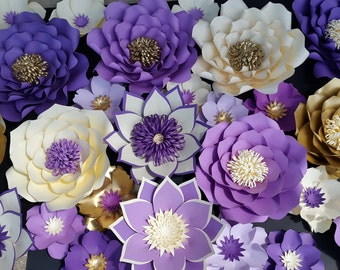 Large paper flower backdrop, Large paper flowers, paper flower decorations, Large paper flowers, Photo booth backdrop, custom flower wall