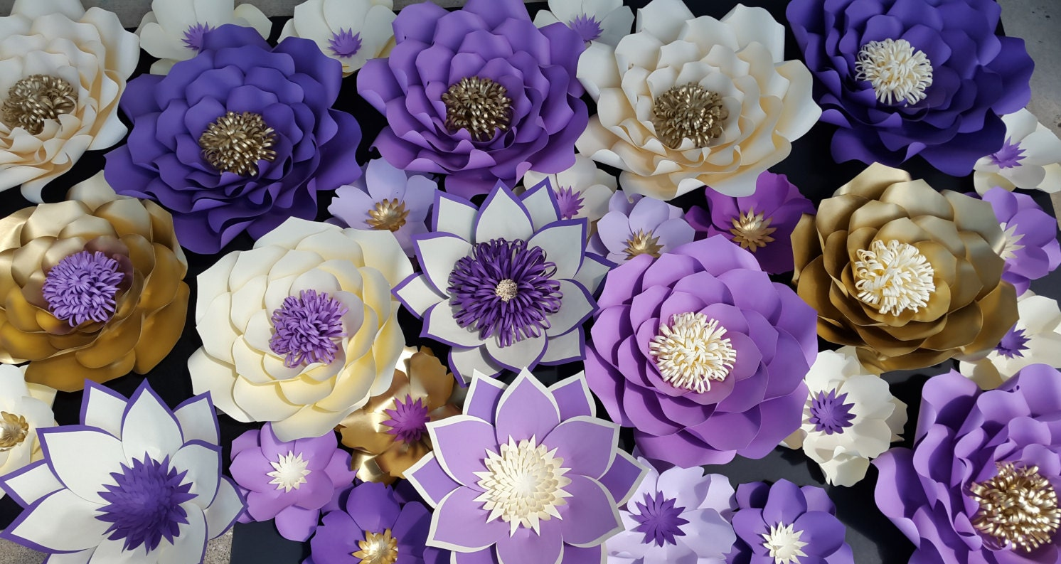 Paper flower wall decor large paper flower wall backdrop zoom amipublicfo Image collections