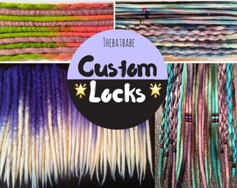 35+ Custom Dreadlock Extensions SE OR DE Free Wraps and beads!