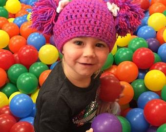 Abby Cadabby Hat Abby Cadabby Wig Costume with pom poms Any size or color Sesame Street Abby Cadabby inspired