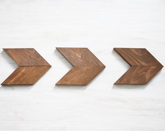 Small Wood Chevron Arrows- Boho Home Decor- Rustic Home Decor- Wood Arrow Wall Art- Nursery Wall Art- Woodland Nursery Decor- Baby Shower