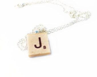 Scrabble Pendant Necklace, Scrabble Tile Initial Necklace, Monogram Necklace, Scrabble Necklace, Personalised Jewelry
