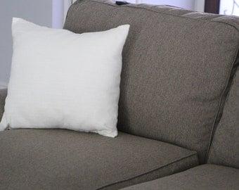 Decorative Pillow Cover, Pillow Sham, Rustic Ivory Linen Pillow Sham, 18x18, Home Decor, Throw Pillow