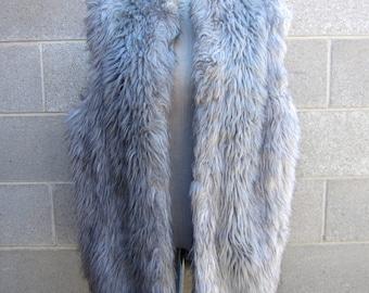 Faux fur vintage vest