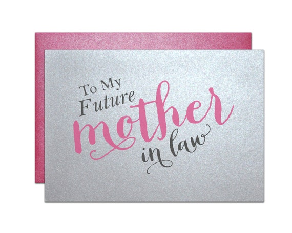 Wedding Gift For Mother In Law: Gift For Mother In Law Wedding Card In Laws Present From