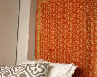 Orange Silk Tapestry