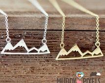 Tiny Colorado Mountain Pride Necklace