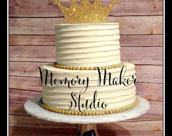 Crown Cake topper IN STOCK, Gold Crown Cake Topper, Gold glitter crown cake topper, Silver crown cake topper, Princess cake topper, Prince
