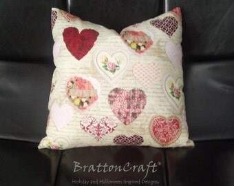 Valentine's Day Decor - Valentine Pillow Cover - Valentine Vintage Love Pillow Cover - Pink Pillow Cover - Sweetheart Pillow Cover - Epsteam