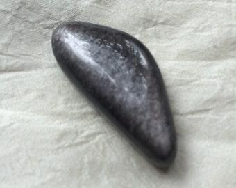 Silver sheen obsidian cabochon, silver sheen obsidian, obsidian, sheen obsidian