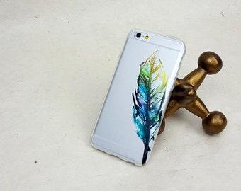 Samsung galaxy s6 case Watercolor Leaf iPhone 6 Plus Case, Nature, Clear Case, Flexible Phone Case, Plastic Phone Case, Boho Phone Case