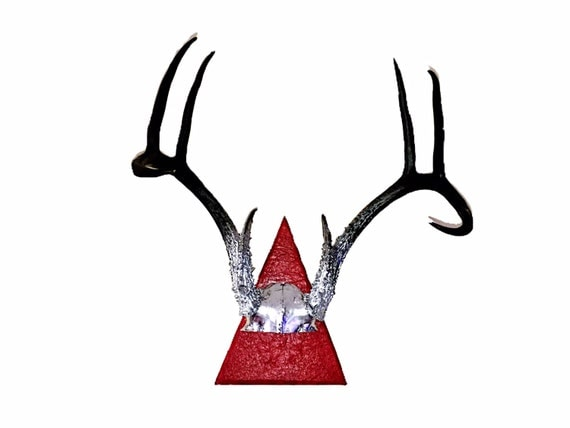 Authentic Deer Antlers Chrome to Black Fade