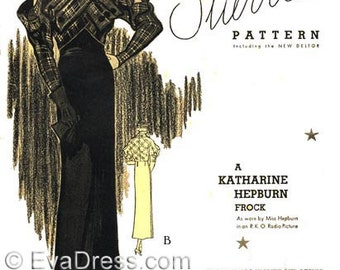 1933 Katharine Hepburn Ensemble Size Multi-size Pattern by EvaDress