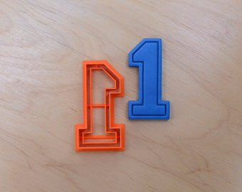 Varsity Number One Cookie Cutter