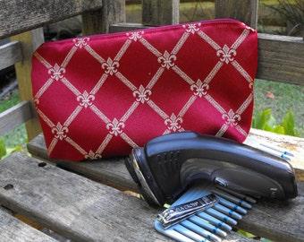 toiletry bag, small zippered bag, special occasion, gift for him, gift for her, prom, small zippered purse, make up bag, pencil bag