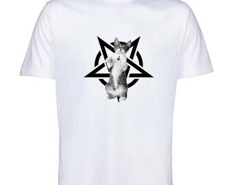 Satanic Kitten TShirt Will.L Designs Tee Polyester Tee T-Shirt
