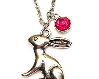 Rabbit Necklace, Rabbit Charm, Rabbit Pendant, Rabbit Jewelry, Easter Rabbit Necklace, Bunny Necklace, Bunny Charm, Bunny Pendant, Easter