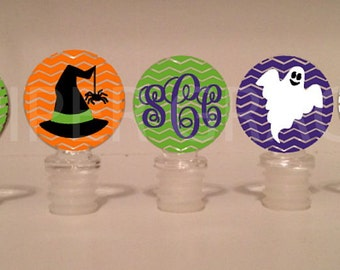 Halloween Wine Stoppers - Individual or Sets - Choose Your Design