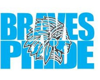 Braves Knockout SVG File, DXF, Cricut Download, Braves Svg, School Pride Dxf, Knockout Svg, Silhouette Dxf Download File