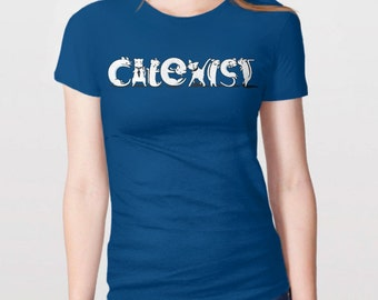 Funny Cat Shirt | Cat Lover Gift for Crazy Cat Lady Shirt, Cute Cat Shirt, Cat Tee Shirt, Cat Owner Gift, Funny Cat Tshirt, Coexist T-Shirt