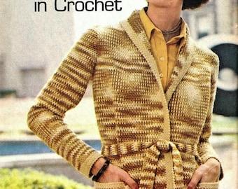Crochet Jacket Wrap Weekend Wrap Jacket Pattern, Hip-Length Jacket Pattern, Cardigan Pattern-Digital Download- Sizes