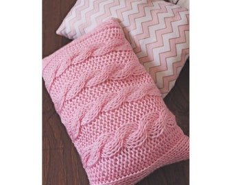 Cable Knit Throw Pillow Set Nursery Little Girls Room Decor