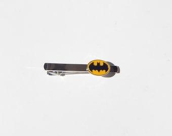 Batman Tie Clip, Superhero Tie Clip, Mens Tie Clip, Fathers Day Gift, Batman Tie Bar, Batman Tie, Batman Accessories, Groomsmen Tie Bar