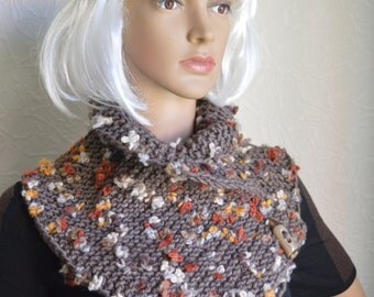 Hand knitted women scarf