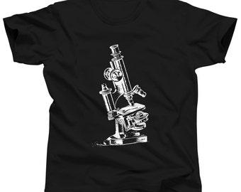 Vintage Microscope Shirt - Science Tshirt - Science Gift - Biology T-Shirt - Laboratory T Shirt - Chemistry Tee - Science Teacher
