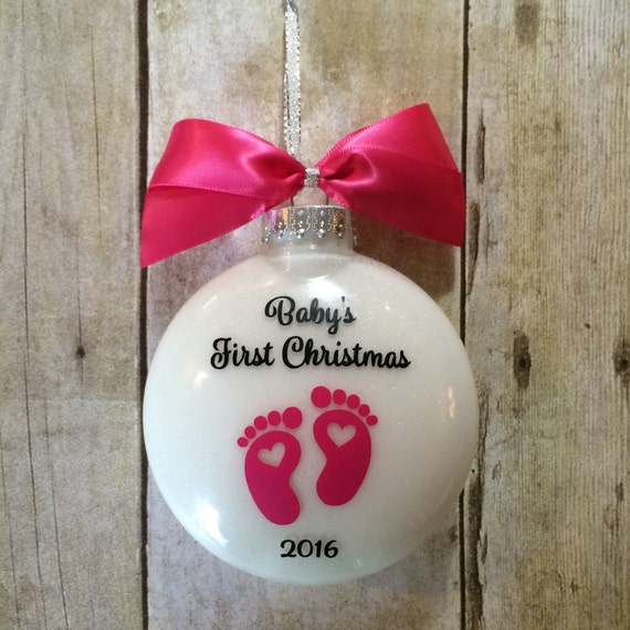Babys First Christmas Gifts: Babys First Christmas Ornament 1st Christmas By
