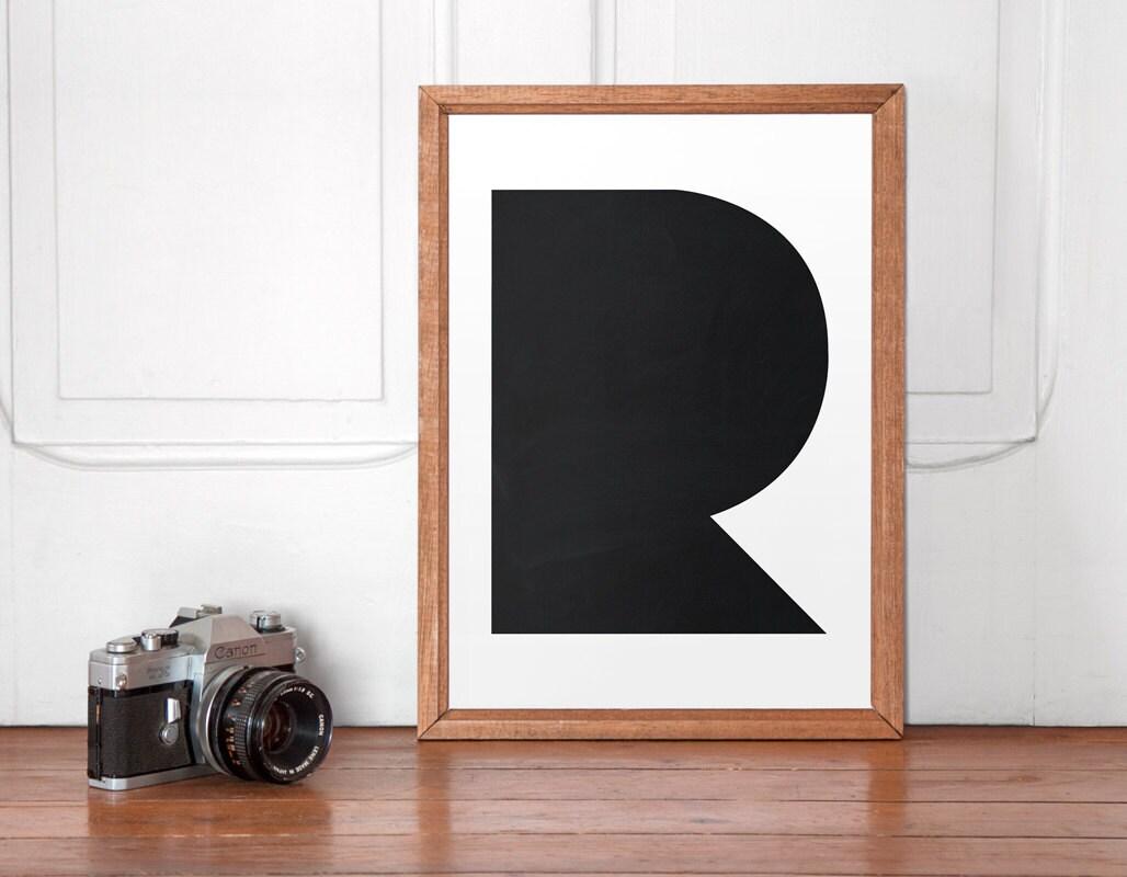 typ plakat typografie wandkunst schwarz und wei poster. Black Bedroom Furniture Sets. Home Design Ideas