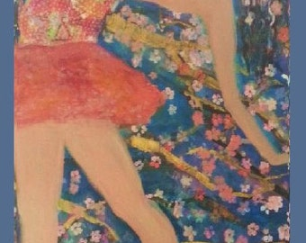 Ballet and Cherry Blossom 3ft 3.5ft canvas [free shipping] SUZETTE ZUCH
